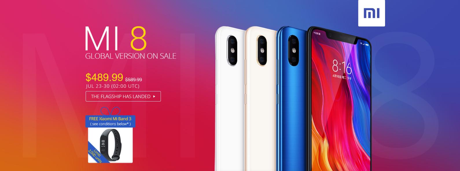 Xiaomi Mi A2, Mi A2 lite e Mi 8 Global sbarcano su Gearbest e ti regalano una Mi Band 3!