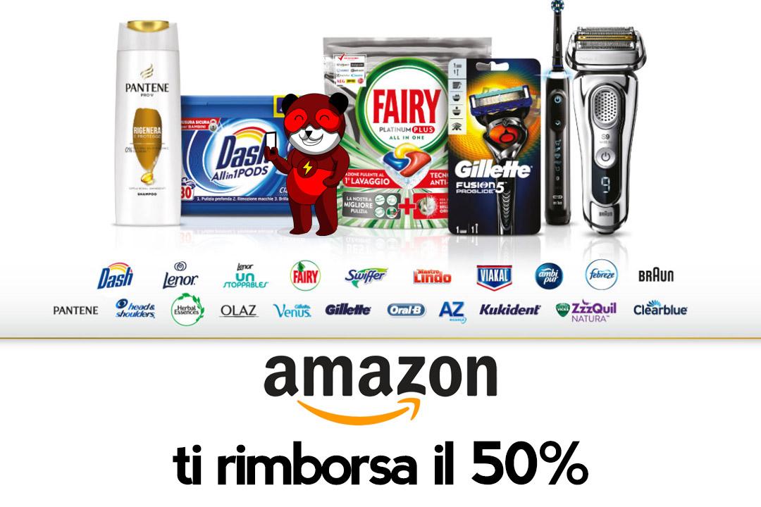 Amazon ti rimborsa fino a 50 euro sui prodotti P&G: scopri come fare!